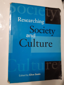 Researching Society and Culture by Clive Seale - USED