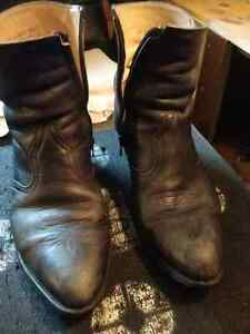 Boulet black/grey marbelite zip up Cowboy boots mens 10 3E $65