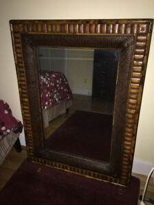 "Used Bamboo mirror 53"" x 40"""