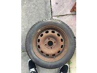 Steel wheel with good tyre