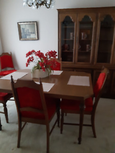Classic, Retro 60`s Solid Wood  Dining Room Table Suite