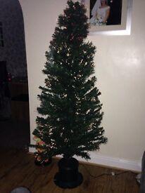 Christmas tree fibreoptic plug in
