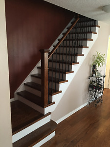 Staircase hardwood on sale
