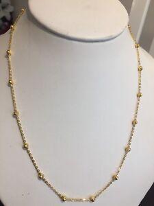 22ct Dubai, gold Necklace, Certified By Birmingham Assay Office, Hallmarked 916