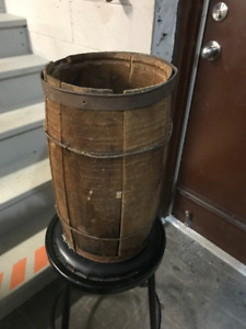 "VINTAGE SMALLER WOODEN BARREL - ""NAIL KEG"""