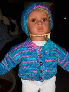 DOLL SWEATER /HAT FOR 18 IN DOLL Windsor Region Ontario image 1
