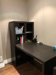 TWO IDENTICAL BROWN OFFICE DESKS - LIGHTLY USED, GREAT SHAPE