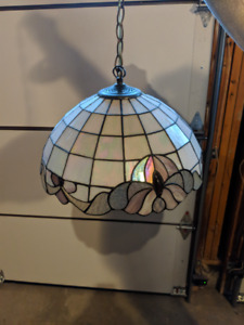 Nice Tiffany Stained Glass Hanging Light