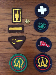 Girl Guide & Brownie badges from 1960s