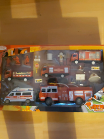 Big fireman playset brand new sealed lovely toy