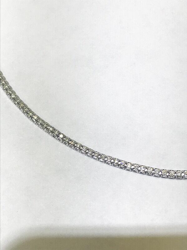 1.00 Carat Natural Diamond Tennis Bracelet G SI 14K White Gold 7'' 92 stones 2