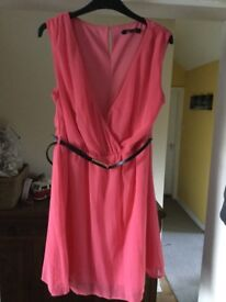New Look Peach/Pink dress size 16