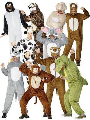 Erwachsener Elefant Kostüme (Smiffy's Tier Erwachsene Kostüm Verkleidung Schwein Affe Elefant Pinguin)