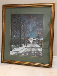 Village in the Winter - Thelma L. Butler