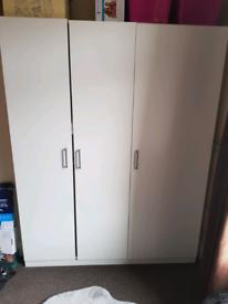 3 Door White Wardrobe - NEED GONE ASAP