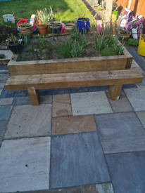 Garden bench made from sleepers