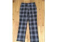Ian Poulter design grey/black tartan trousers