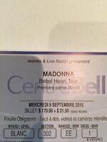 Billets Madonna, Centre Bell, 9 Septembre, Montreal