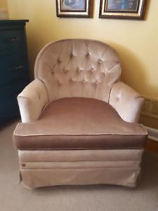 Retro swivel rocker chair