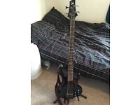 ESP LTD F154-DX 4 String Bass Guitar 'See Thru Black'