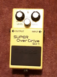 Boss SD-1 super overdrive with Monte Allums mod!