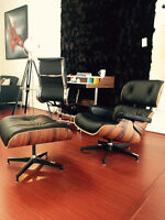 Eames Lounge Chair, Barcelona Chair, Noguchi Table