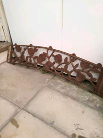 Cast Iron Garden bench back