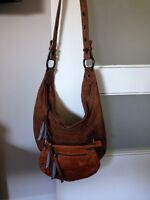 Hugo boss authentic suede beige boho purse