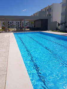 2 br apartment in gated commmunity with pool - playa del carmen