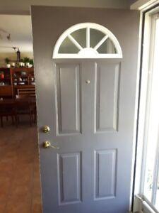 Steel Front Door with Window