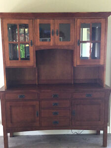 Sold Oak Buffet and Hutch