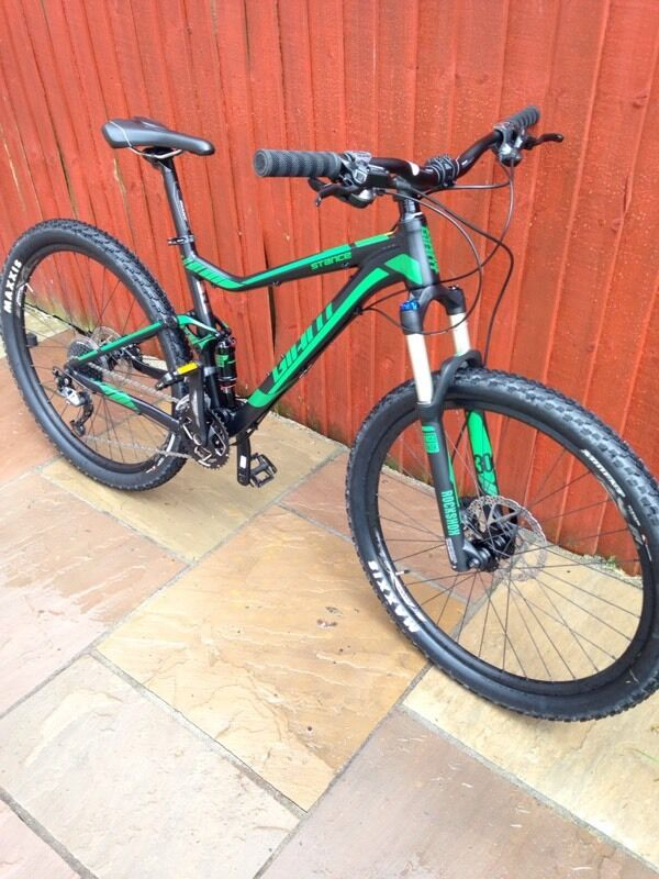 Giant stance 27.5 2016 barely used! Full suspension mountain bike ...