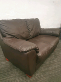 3 & 2 Seater Leather Sofas Delivery Available