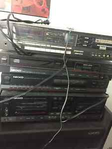 Sansui amp, Nikko tape deck, tuner, CD player. Vintage. Strathcona County Edmonton Area image 1