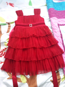 Girls red party dress
