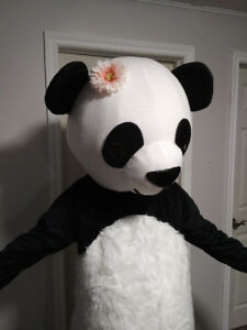 adult or teen panda mascot Halloween costume
