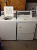 Commercial Coin operated Washers and Dryers