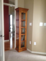 Curio Cabinet , real wood and glass $225