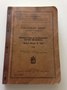 Canadian Army Training Pamphlet No. 9 Motor Mechanics 1942 Book