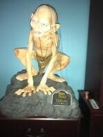 SIDESHOW RUBIES GOLLUM LORD OF THE RING LIFE SIZE STATUE