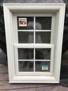 NEW window vertical double hung Andersen with brickmold and trim