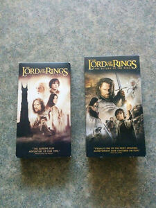 Lord of the Rings VHS Tapes