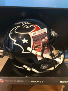 Deandre hopkins full sz speed rep helmet with JSA certification
