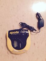 Vintage Yellow Sony Sports Walkman - CD player
