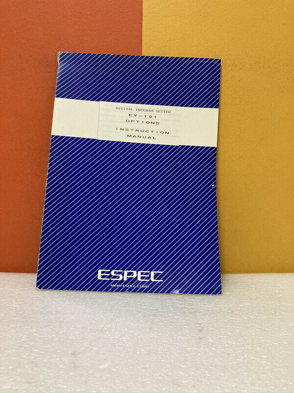 Espec Digital Program Setter EY-101 Options Instruction Manual