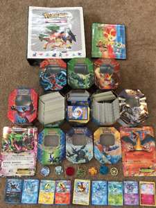 Pokemon cards, binders, coins, tins and sets