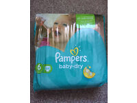Pampers Baby Dry Nappies Size 6