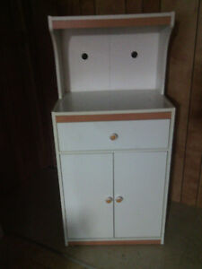 Small microwave stand, hutch for sale