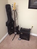 Fender Bass Guitar with Roland Amp plus more!