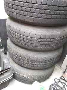 Rims and tires off of a jeep cherokee  Cambridge Kitchener Area image 3
